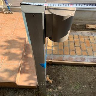 機能門柱 防雨照明付き ポスト、インターホン取付可能 - その他