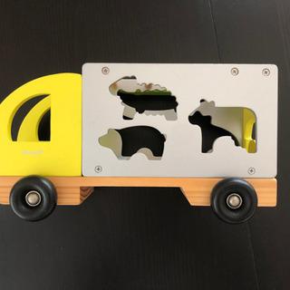 木製トラック パズル