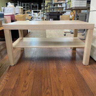 ウッド調ローテーブル(収納棚付き)