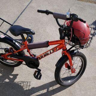 【ネット決済】子供自転車 16   補助手付&補助輪付き