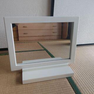 卓上ミラー/鏡・白/ホワイト・Used