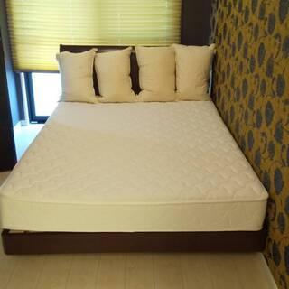 マットレス付き ダブルベッド