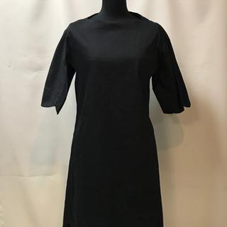 新品 袖口、裾が花びらカット ストレッチチュニック