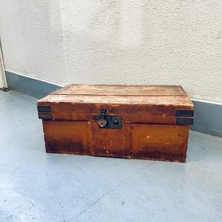 【ネット決済・配送可】味のあるお品物◇木箱 収納箱 アンティーク...