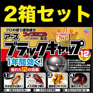 【ネット決済・配送可】【新品】 2箱セット ブラックキャップ ゴ...