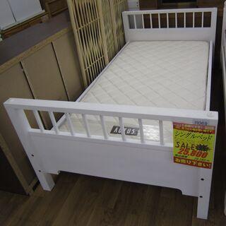 R069 高級 ACTUS シングルベッド、マットレスセット 良品の画像