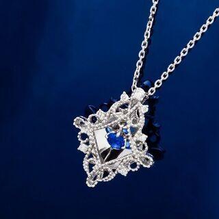 Pt900/850 アウイナイト・ダイヤモンド ネックレス…