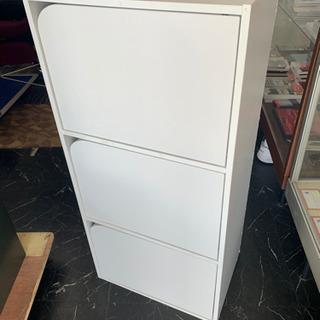 【成約御礼】扉付カラーBOX/ホワイト/収納ボックス/整理…