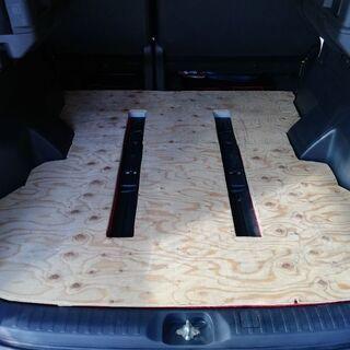 デリカD5 後部座席フロア フラット化