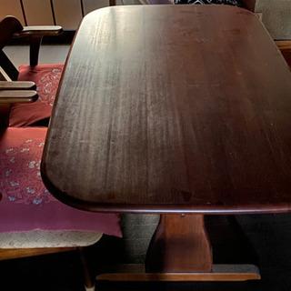 食卓テーブル(椅子3個付)