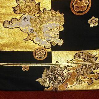 名古屋帯 大島織 獅子