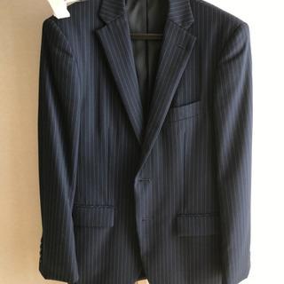 【ネット決済】スーツ上着メンズ【紺ストライプ】