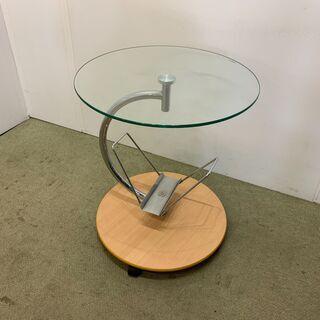 (201111)【30%値下げ】ガラステーブル サイドテーブル ...