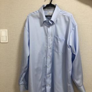 ワイシャツ XL  ブルー
