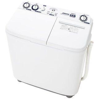 AQW-N52BK-W 2槽式洗濯機 ホワイト [洗濯5.…