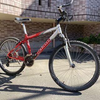 GIANT マウンテンバイク ギア3×7 レッド ブルホーンバー