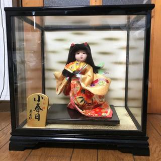 日本人形 小春日ガラスケース入り