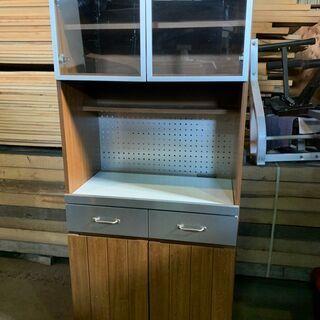 ウニコ UNICO STRADA キッチンボード 食器棚 W80 木目 オシャレ 配送OKの画像
