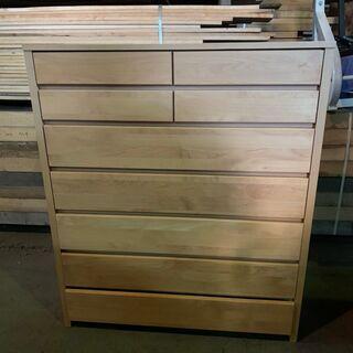 ラ・セーヌ 美しい木製7段タンス 超美品 2分割可能 早い…