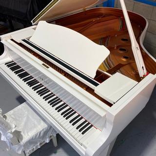 ヤマハC3の気品あるホワイトモデルグランドピアノ