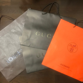 LV GUCCI HERMES ショッパー 4枚セット