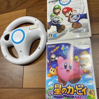 Wii 星のカービィ マリオカート ハンドル