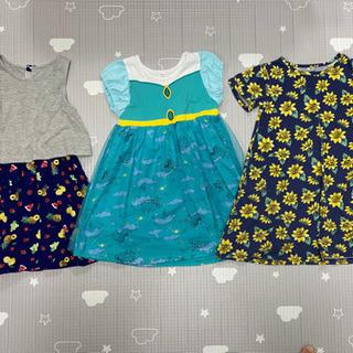 グローバルワーク 子供服 XLサイズ ワンピースセット