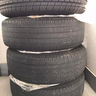 【ネット決済・配送可】日産車 純正タイヤ付きホイールセット 傷少なめ