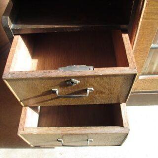 昭和レトロ 木製 アンティーク本棚 引き出し付  - 家具