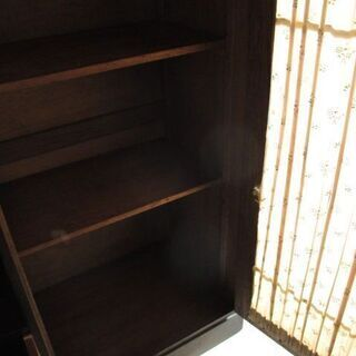 昭和レトロ 木製 アンティーク本棚 引き出し付  − 石川県