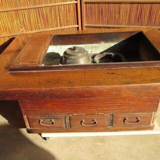 大和火鉢 関西火鉢 欅製 古民具 使用可