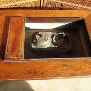 大和火鉢 関西火鉢 欅製 古民具 使用可 - 河北郡