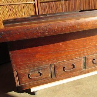 大和火鉢 関西火鉢 欅製 古民具 使用可 - 家具