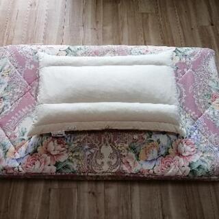 美品敷き布団枕セット