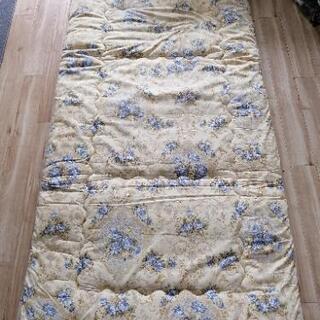 美品羽毛敷き布団枕セット - 家具