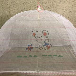 ベビーベッド用 ベビーかや 蚊帳 120cm×70cm