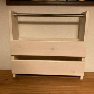 カントリー 木製ブックシェルフ