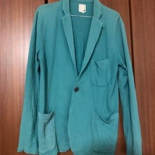 グリーンのテーラードジャケット カーディガン