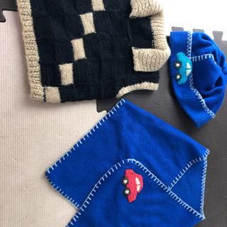 フリース帽子&マフラー&毛糸セーター