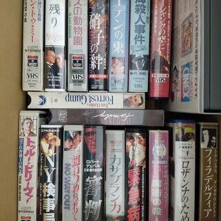 名作洋画(VHS) 100本程度(「50本以上」を修正)