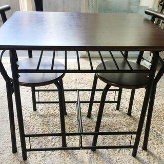 ダイニングテーブルセット(テーブル×1台、イス×2脚) - 港区