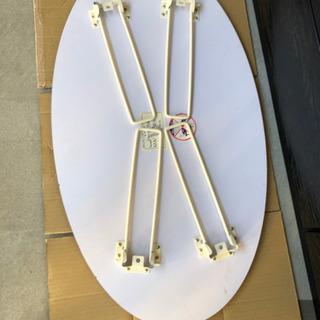 美品 オーバル型の折り畳みローテーブル - 港区
