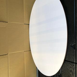 美品 オーバル型の折り畳みローテーブル - 家具