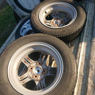 アルミホイール(古タイヤ付いてます)145/80R13 - 車のパーツ