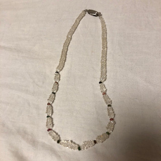 水晶 ネックレス 天然石 シルバー
