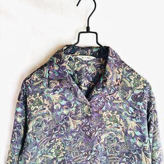 古着 ヴィンテージ オープンカラーシャツ ブラウス ヨーロピアン...