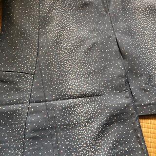 アンティーク着物 小紋 袷 洗えるポリ