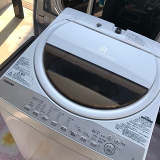 取引中2017年製東芝グランホワイト全自動洗濯機7キロ美品。千葉県内配送無料。設置無料。の画像