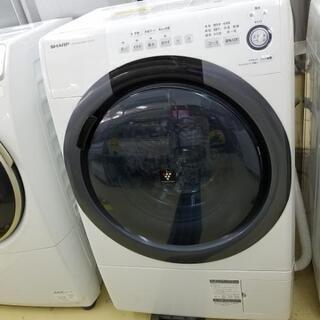 美品!!2019年式!シャープ!ドラム式電気洗濯乾燥機!愛…