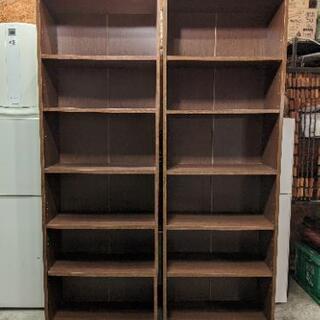 棚 シェルフ ラック 本棚 ブラウン 可動式 高さ変更可能 在庫2点